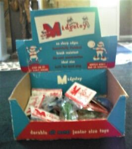 MIDGETOY 1954 STORE SALES DISPLAY BOX WITH 10 DIECAST TOYS