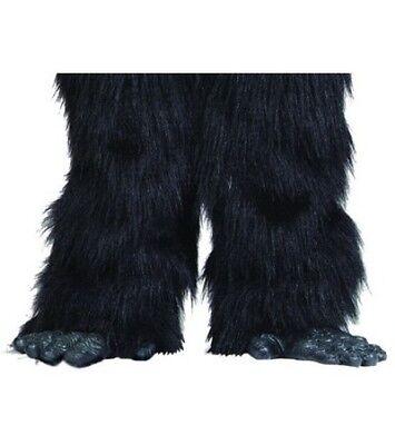 LATEX GORILLA FEET ADULT APE CHIMPANZEE MONKEY ANIMAL SHOE FOOT COVERS BLACK - Gorilla Feet