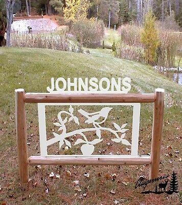SONG BIRD SIGN-CLINGERMANS LOG SIGNS-WILDLIFE ART #28