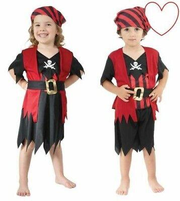 Kleinkind Piraten Kostüm Kapitän Jungen Mädchen Buch Tag - Jungen Mädchen Piraten Kostüm