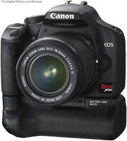 Canon 450D with 18-55mm lens and battery grip