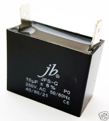 Motor Run Film Capacitor 10uf 250v Ac 5 1 Piece