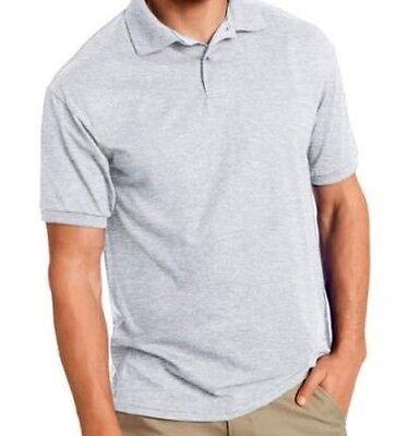 Cutter & Buck Polo Shirt (Cutter & Buck Gray Short Sleeve 100% Cotton Polo Shirt 2XL XXL )