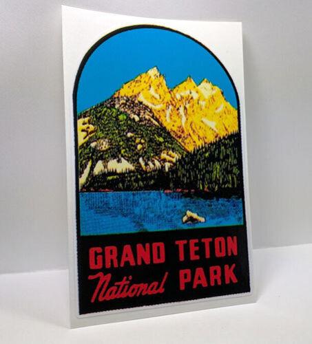 Grand Teton National Park Vintage Style Travel Decal | Vinyl Sticker