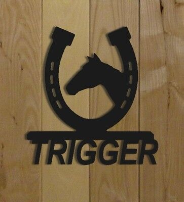 HORSE STALL SIGN - HORSE SHOES - SADDLES