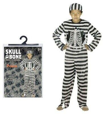 Halloween Party Kostüm Skelett Gefangener Jungen Klein Mittel - Kleiner Junge Skelett Kostüm