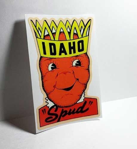 IDAHO Spud Vintage Style Travel Decal, Vinyl Sticker, luggage label