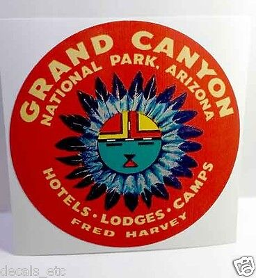 Grand Canyon Arizona Vintage Style Travel Decal / Vinyl Sticker, Luggage Label