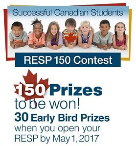 Open an RESP for your child and enter to win prizes worth $45000