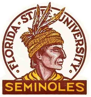 Florida State  University   Seminoles   Vintage Looking   Travel Decal  Sticker