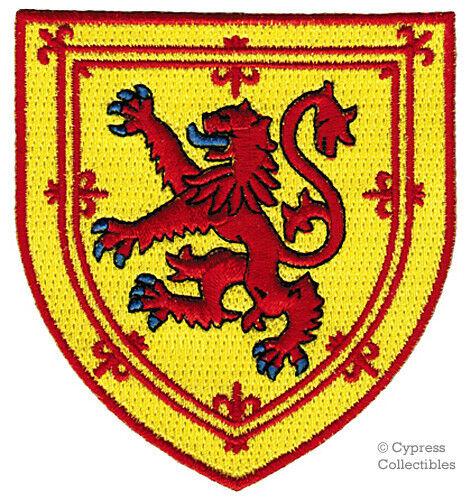 SCOTLAND iron-on PATCH COAT OF ARMS EMBLEM LION RAMPANT SCOTTISH FLAG SHIELD new