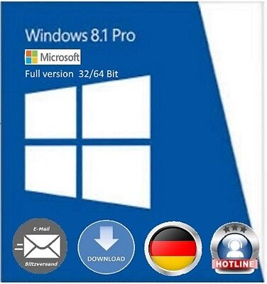 Windows 8.1 Professional 32 / 64 Bit OEM Key Schlüssel Multilingual Vollversion usato  Spedire a Italy