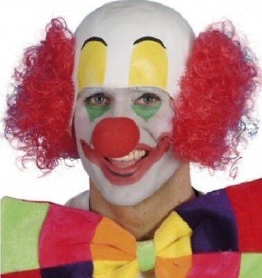 Erwachsene Zirkusclown Kostüm Gummi Kopfbedeckung & Perücke von Smiffys Neu