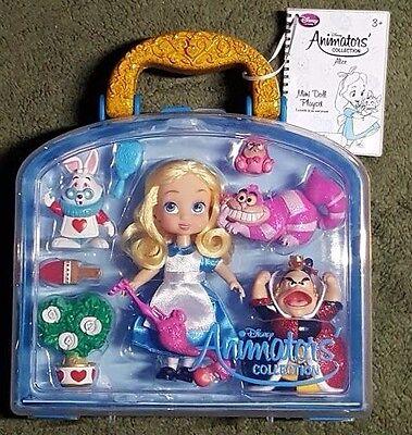 LOW PRICE: $7.77! Disney Alice in Wonderland Mini Doll set Animators Collection