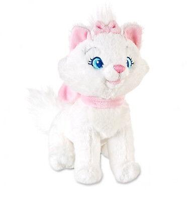"Disney Store Aristocats Marie Cat Mini Bean Bag Plush 7"" Stuffed Animal Gift NEW"