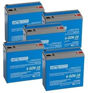 60V 20Ah eBike Battery Set - 6-DZM-20 12V 20Ah (5 batteries in total)