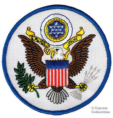 GREAT SEAL OF UNITED STATES iron-on PATCH embroidered EAGLE US USA EMBLEM ROUND