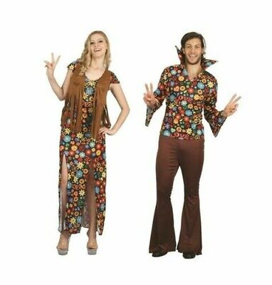 Erwachsene Hippie Damen Mann Kostüm Einheitsgröße Kostüm 1970s Theme - 1970's Party Kostüm