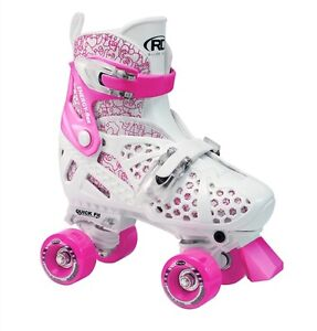 ROLLER DERBY TRAC STAR ADJUSTABLE ROLLER SKATES-GIRLS/KIDS US SIZE J12-2, PINK