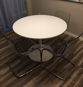 IKEA Docksta Table and 4 Tobias Chairs