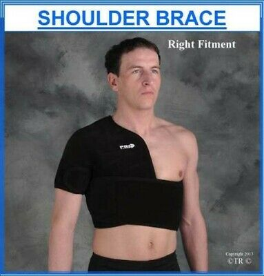Proline Shoulder Support Brace Black Neoprene Adult Medical