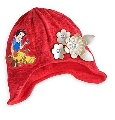 Disney Store Snow White Princess Red Knit Beanie Hat Girls Size 3-6 & 6-10 Years (Princess Snow White)