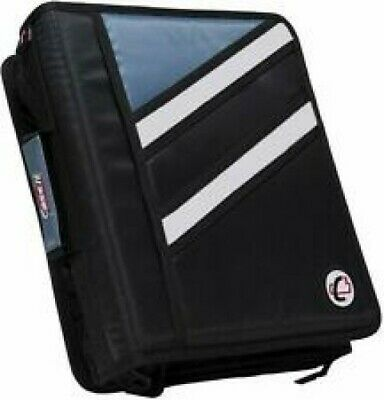 Case-it Z-binder Two-in-one 1.5 Inch D-ring With Zippers Double Storage