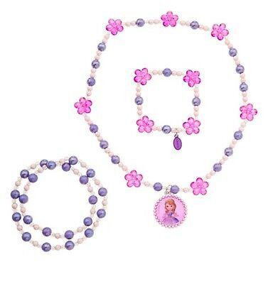 Disney Store Sofia the First Costume Dress Up Jewelry Necklace Bracelets 3pc - Disney Sofia Dress Up Costume
