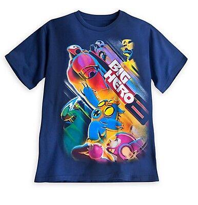 Hiro Big Hero 6 (Disney Authentic Big Hero 6 Mens Graphic T Shirt Baymax Hiro Small S M L XL)