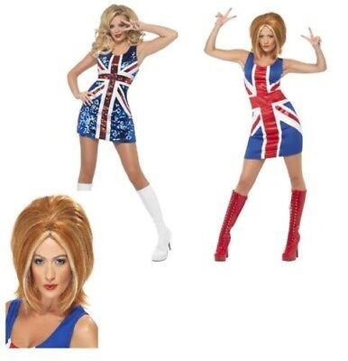 Spice Damen Union Jack KLEID S-XL (Spice Kostüm)