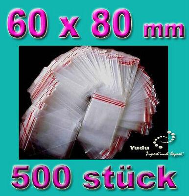 500 stück Druckverschlussbeutel / Tüten  60 x 80 mm 0,0072€/Stk