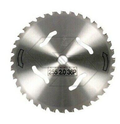 Disco 36 Dientes FORESTAL Acero Desbrozadora Ø255mm foro25, 4mm Espesor 2,0mm