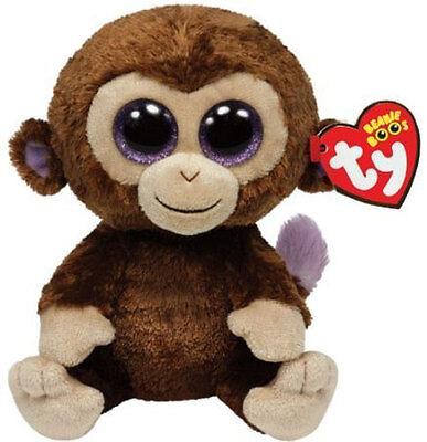 "Ty 6"" Coconut Brown Monkey Beanie Boos Plush Stuffed Animal New w/ Tag MWMT's"
