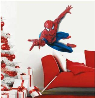 3D Spiderman Self Adhesive Removable Boy Room Decal Wall Sticker