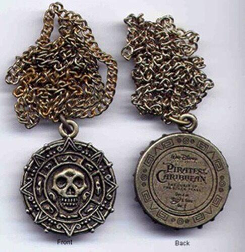 Pirates of the Caribbean Promo Cursed Aztec Skull Medallion Coin Ring Disney