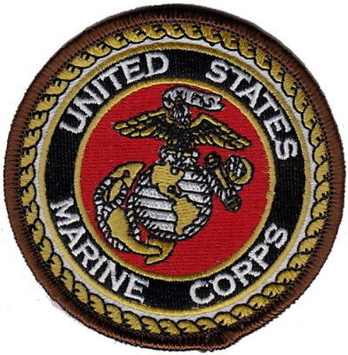 "US MARINE CORPS USMC Embroidered Patch 3"" Diameter"
