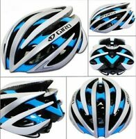 GIRO AEON Helmet, Silver Blue White, Medium, 55-59cm, 222g, $110