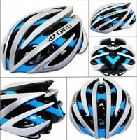 GIRO AEON Helmet, Silver Blue White, Medium, 55-59cm, 222g, $150