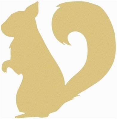 Wood Squirrel Shape, Unfinished Shape, Wood Cutout, Wooden Paintable Craft
