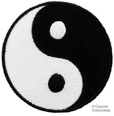 YIN YANG embroidered iron-on PATCH karate ying tai chi MARTIAL ARTS EMBLEM