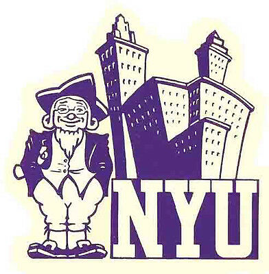 Nyu    New York University    College   Vintage Looking   Travel Decal  Sticker