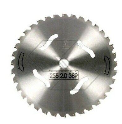 Disco 36 Dientes FORESTAL Acero Desbrozadora Ø255mm foro20, 0mm Espesor 2,0mm