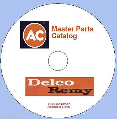 AC Delco parts Information DVD ROM   circa 1945-1971