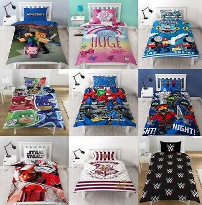 Childrens Characters Single Bed Quilt Duvet Cover & Pillowca