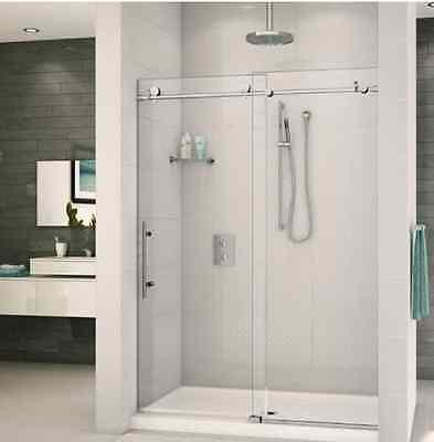 Frameless Sliding Shower Door Computer equipment Track Kit 8 FT / Brushed Stainless Steel