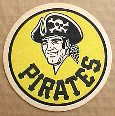 IRON CITY BEER, PIRATES,  COASTER, Mat, Pittsburgh Baseball Team, PENNSYLVANIA