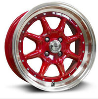 Roues (Mags) R-SPEC RTX Phat Rouge 15 pouces 4-100