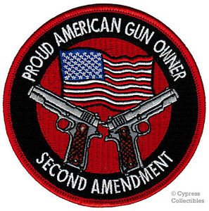 PROUD-AMERICAN-GUN-OWNER-EMBROIDERED-new-1911-PATCH-2nd-Amendment-IRON-ON-EMBLEM