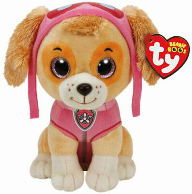 "TY Beanie Baby 6"" Paw Patrol SKYE the Cockapoo Plush Stuffed Animal Toy MWMT's"