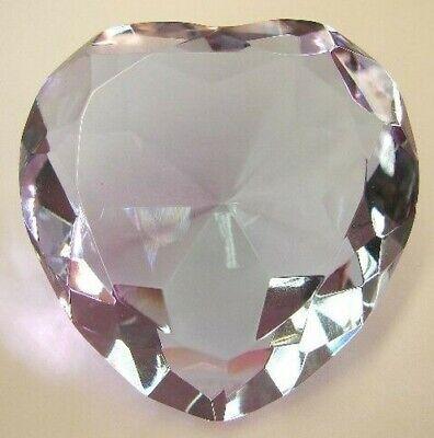 60mm Feng Shui Forma Corazón Violeta Cristal